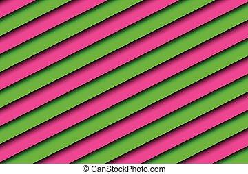 ピンク, 抽象的, 対角線のストライプ, 緑の背景