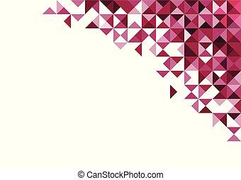 ピンク, 抽象的, 海原, 背景, 白, 幾何学的