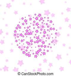 ピンク, 抽象的, 白い背景, 星