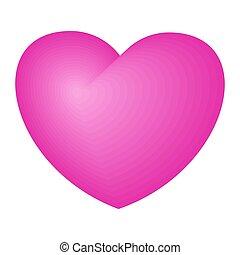 ピンク, 明るい, 愛, シンボル, 優しさ, heart.
