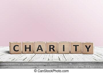 ピンク, 木製である, 印, 壁, 机, 慈善