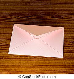 ピンク, 柔らかい, 封筒