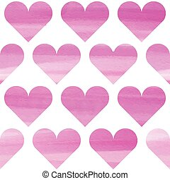 ピンク, 水彩画, seamless, パターン
