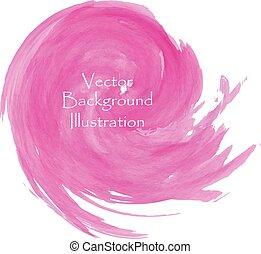 ピンク, 水彩画, splash.