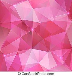 ピンク, 水晶, 抽象的, ベクトル, 背景
