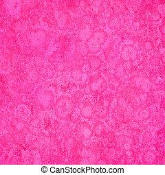 ピンク, 海綿状, グランジ, 背景, textured