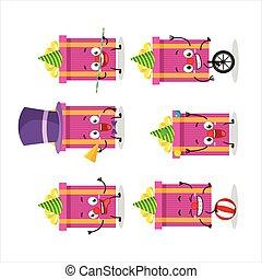 ピンク, 漫画, ショー, クリスマスの ギフト, サーカス, 様々, 特徴