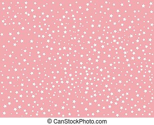 ピンク, 白い背景, 星