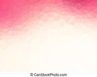 ピンク, 白, 愛, 幾何学的, 背景