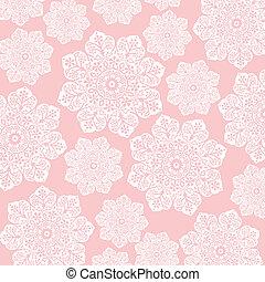 ピンク, &, 白, 花, ろうけつ染め