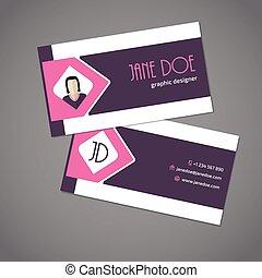 ピンク, 矢, リボン, カード, ビジネス