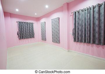 ピンク, 窓, 部屋, 空