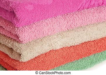 ピンク, 紫色, 山, タオル