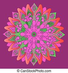 ピンク, 紫色, 明るい, b, mandala
