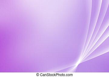 ピンク, 紫色, 眺望, カーブ, なだめること