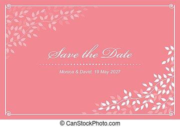 ピンク, 結婚式の招待