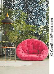 ピンク, 肘掛け椅子, 部屋