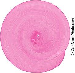 ピンク, 背景。, らせん状に動きなさい, 水彩画, ベクトル, textured, illustration.
