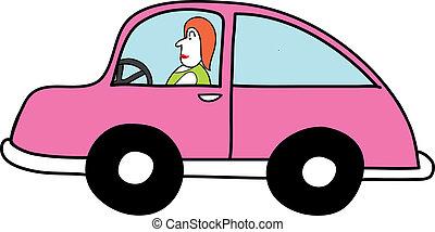 ピンク, 自動車