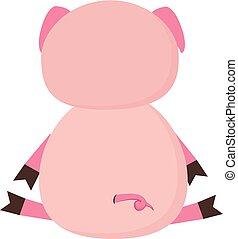 ピンク, 色, イラスト, 豚, ベクトル, ∥あるいは∥