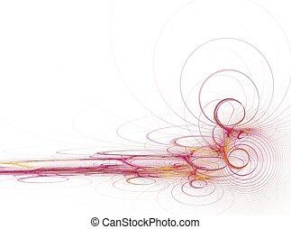 ピンク, 色, 抽象的, 音波