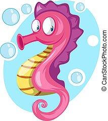 ピンク, 色, fish, illustration., ベクトル