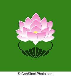 ピンク, 花, ロータス, イメージ, 約束, 定型, 背景, 仏, 緑, 日本, シンボル