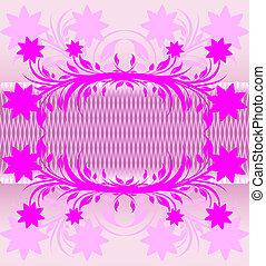 ピンク, 花, 抽象的, バックグラウンド。