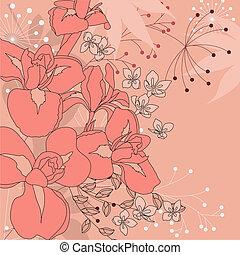ピンク, 花, 背景