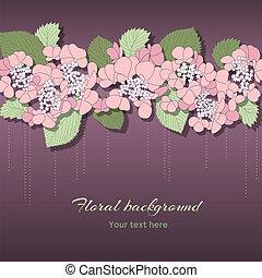 ピンク, 花, 花, デリケートである, 背景