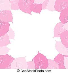 ピンク, 葉, フレーム