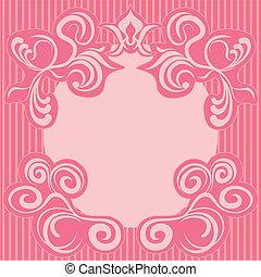 ピンク, 装飾, 抽象的, フレーム