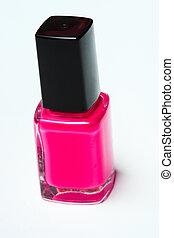ピンク, 釘, 白い背景, ポーランド語