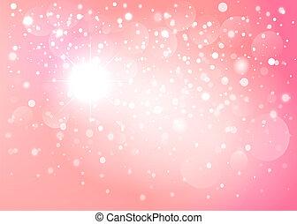 ピンク, 雪, bokeh, バックグラウンド。, ベクトル, eps10.
