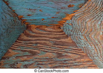 ピンク, 青, 古い, 木製である, 表面, 色, 木, paint., 手ざわり, 背景, 自然, 残物