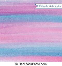 ピンク, 青, 水彩画, 手ざわり
