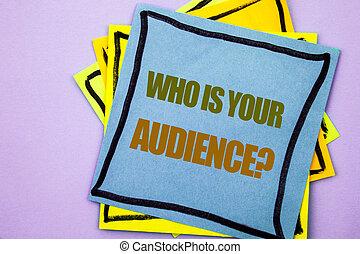 ピンク, 顧客, ビジネス, サービス, テキスト, 提示, question., 聴衆, 研究, メモ, バックグラウンド。, 書かれた, ペーパー, クライアント, 写真, showcasing, 執筆, 付せん, あなたの, ターゲット