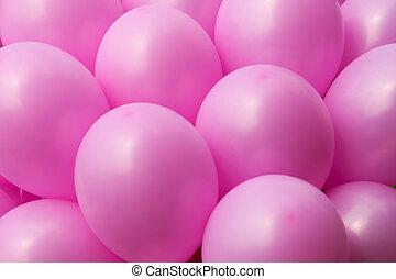 ピンク, 風船, 背景