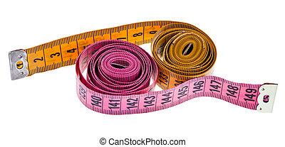 ピンク, 黄色, テープ, 測定