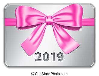 ピンク, 2019, タブレット, 弓