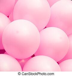 ピンク, ballons, 背景