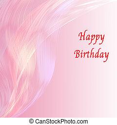 ピンク, birthday, 魅力的, 背景, 線, カード, 幸せ