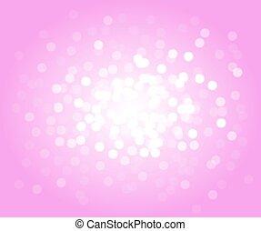 ピンク, bokeh, ベクトル, 背景