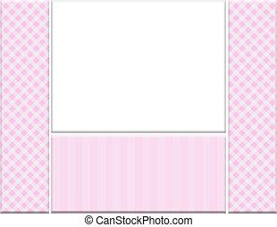 ピンク, checkered, フレーム, あなたの, 招待, メッセージ, ∥あるいは∥, 祝福