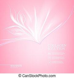 ピンク, design., 心配, 背景, scin