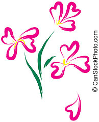 ピンク, heart-form, 花, まだ生命