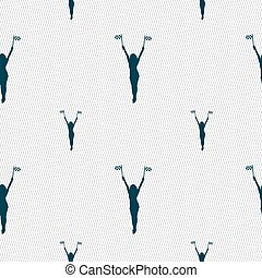 ピン, パターン, 印。, の上, seamless, 旗, ベクトル, 幾何学的, 女の子, 競争, texture., アイコン
