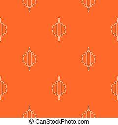 ピン, パターン, 回転, ベクトル, 生地, オレンジ