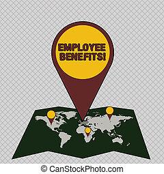 ピン, 写真, 間接, カラフルである, 区域, 執筆, 位置, 概念, 指すこと, gps, ∥ない∥, ビジネス, 提示, 支払われた, 手, 従業員, 住所, benefits., map., 現金, 補償, showcasing, ∥あるいは∥