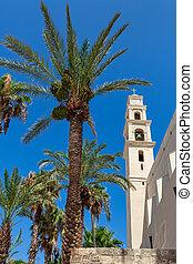 ピーター, 鐘楼, israel., jaffa, st. 。, 教会